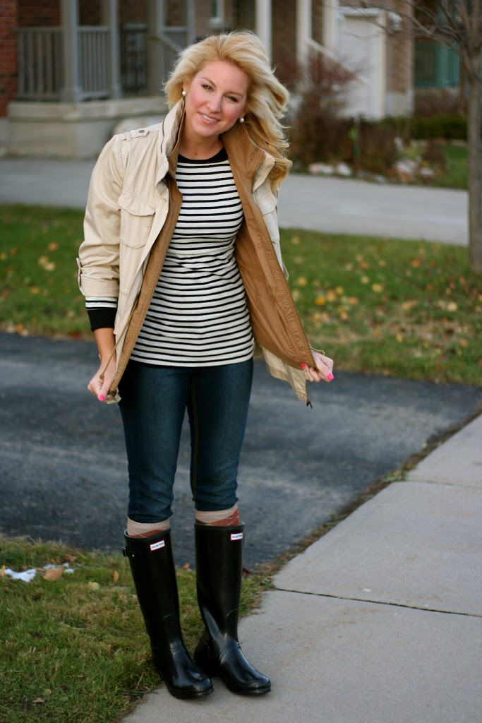 1f81a3d7b What I Wore  Stripes and Hunters - SHOP DANDY