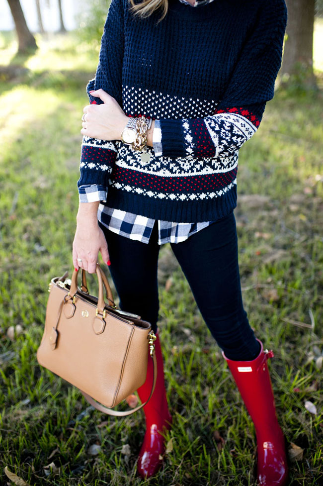 Outfit | Holiday Fair Isle Sweater and Gingham - SHOP DANDY | Shop ...