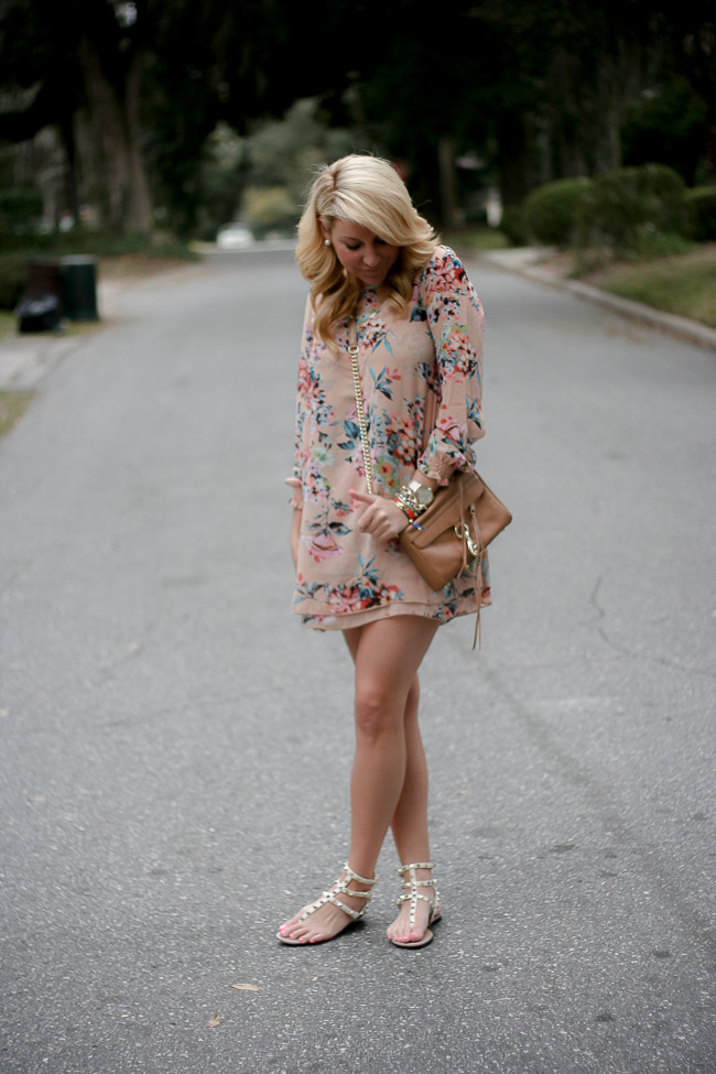 Outfit | Floral Dress - SHOP DANDY | A Florida Based Style And Beauty Blog By Danielle
