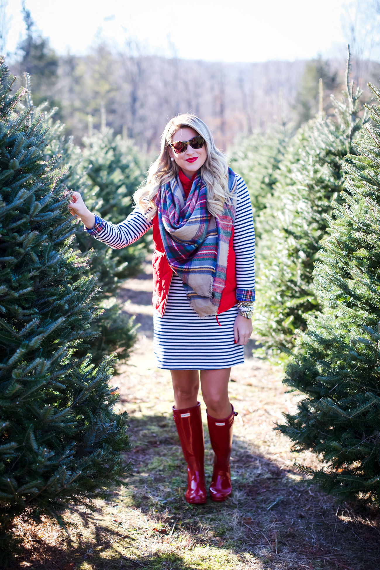 Christmas Tree Scarf