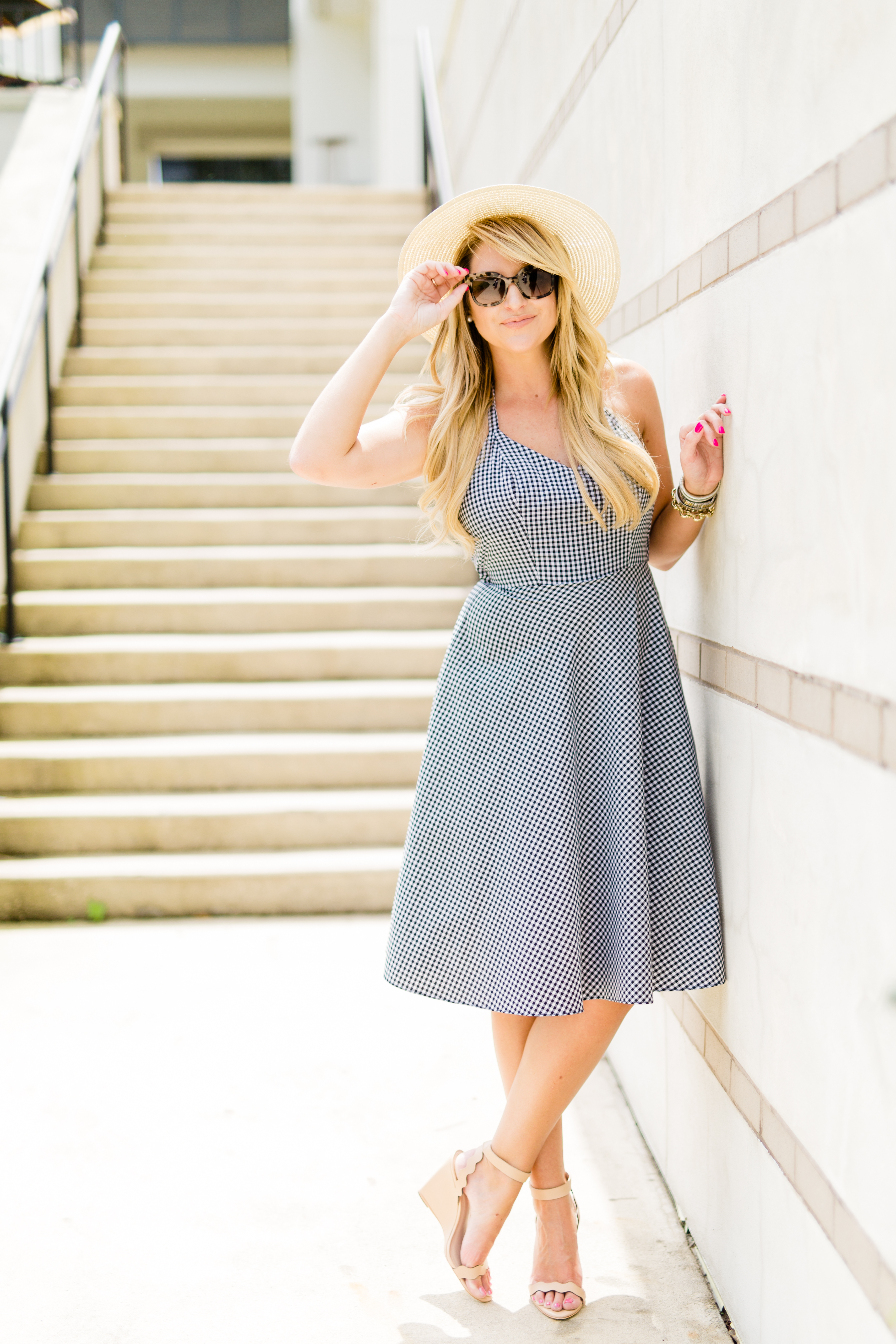Outfit Boater Hats Amp Gingham Dresses French Riviera