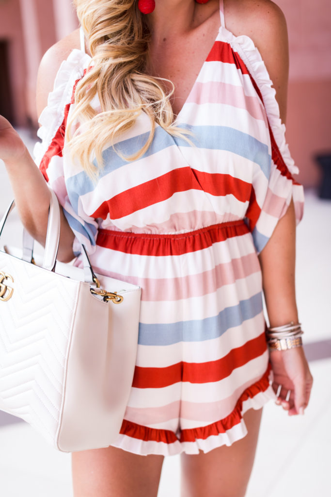 Lovers and Friends Striped Romper-12
