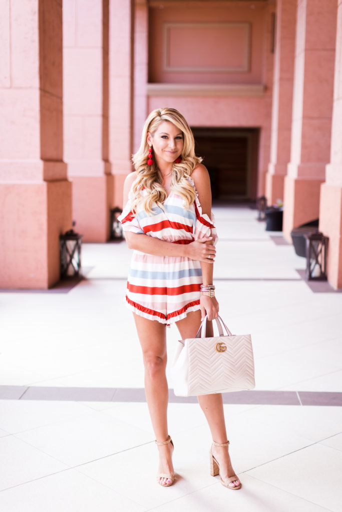Lovers and Friends Striped Romper-3