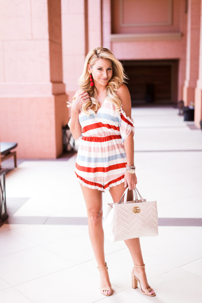 Lovers and Friends Striped Romper-5