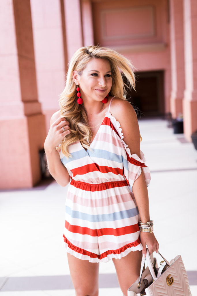 Lovers and Friends Striped Romper-7