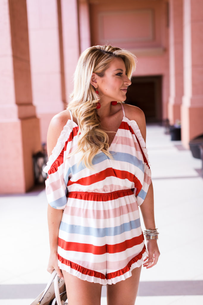 Lovers and Friends Striped Romper-8