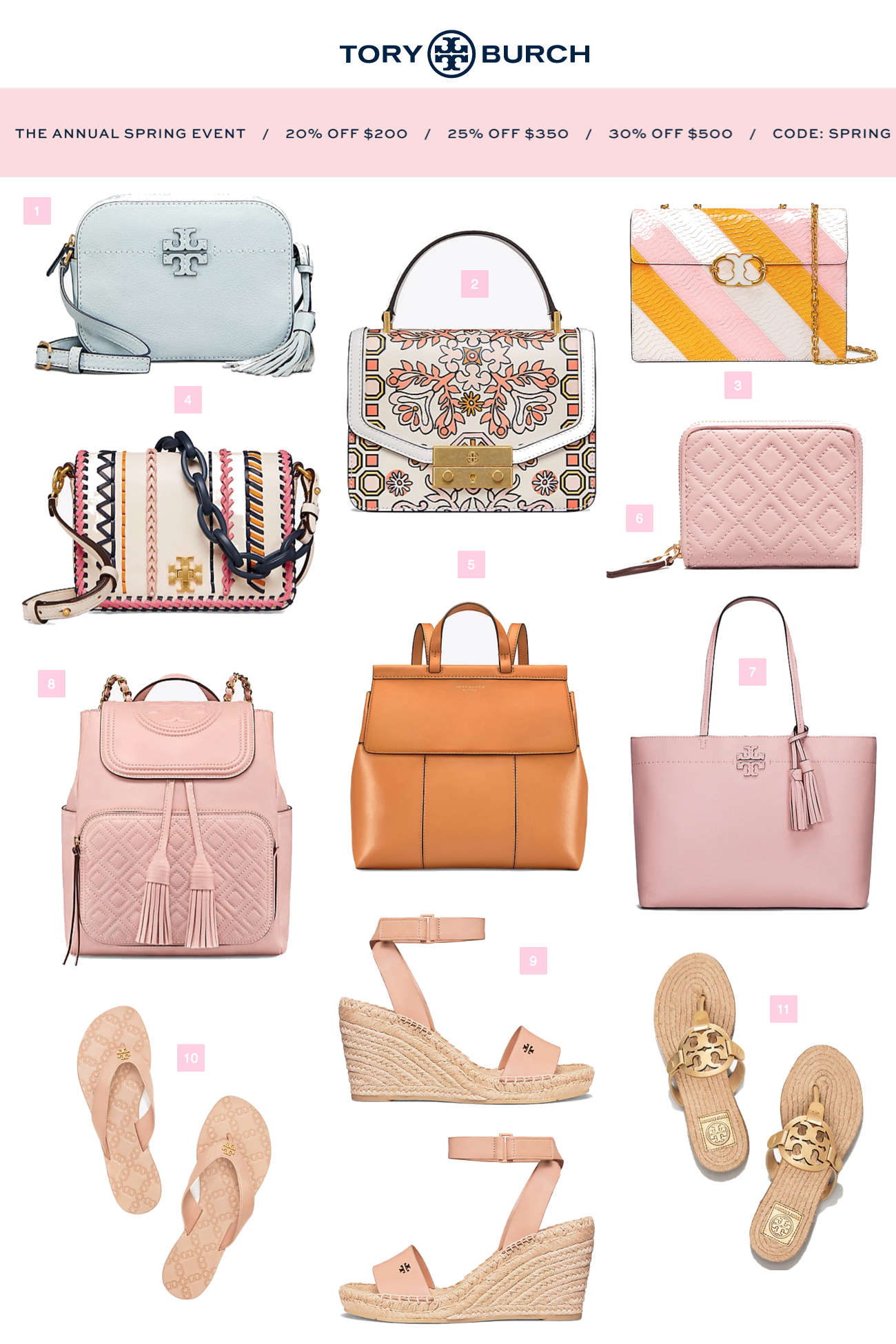 8d4baa2a311 Tory Burch Spring Sale 20% to 30% off - SHOP DANDY